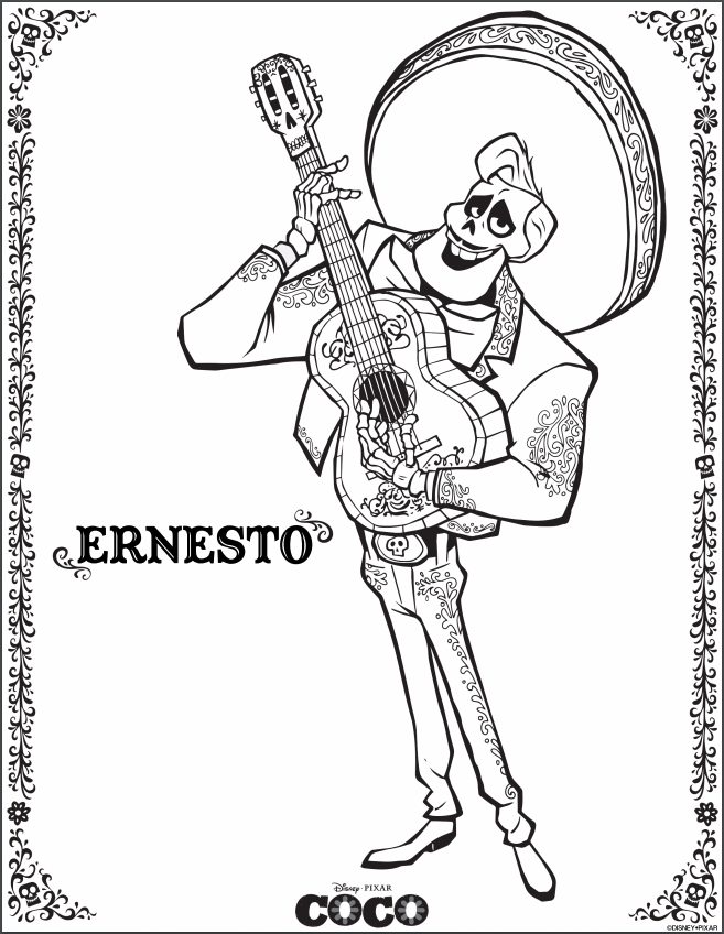 FREE Pixar's Coco Printable Coloring Pages, Activity ...