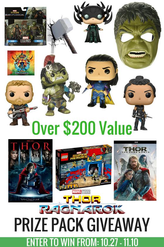 Thor- Ragnarok Prize Pack Giveaway