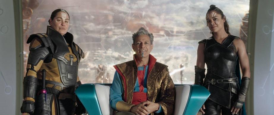 Thor Ragnarok Rachel House Jeff Goldblum Tessa Thompson