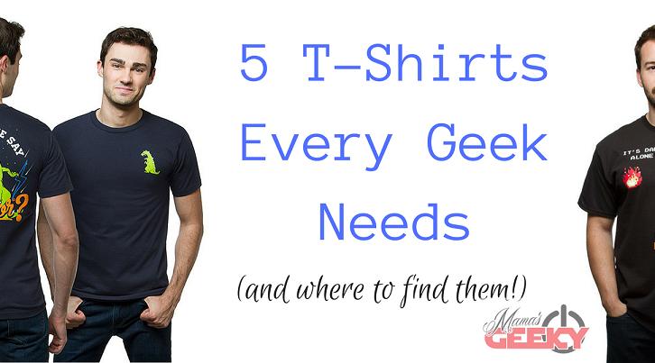 5 T-Shirts Every Geek Needs