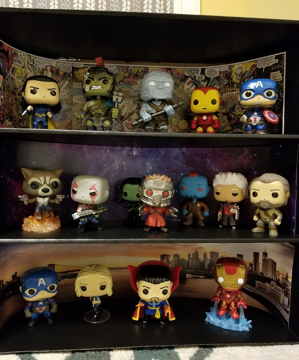 Display Geek Marvel Case with Pops