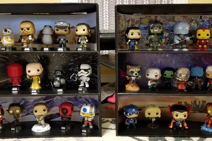 Display Geek Star Wars Marvel Case with Pops