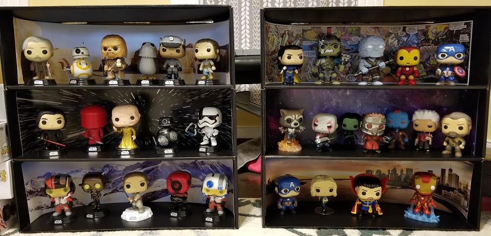 Display Geek Star Wars Marvel Case with Pops