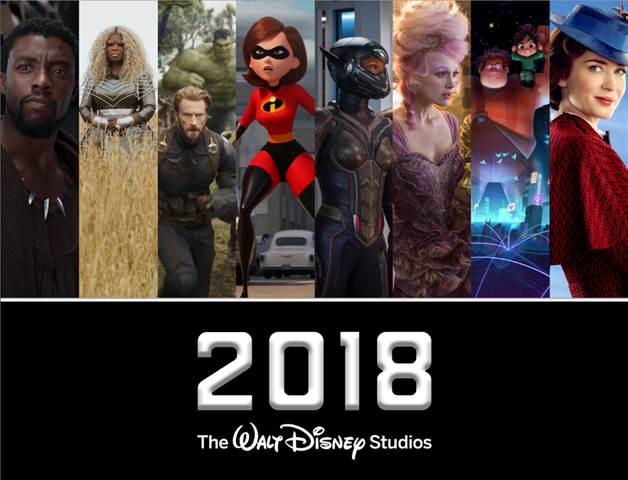 2018 walt disney studios slate