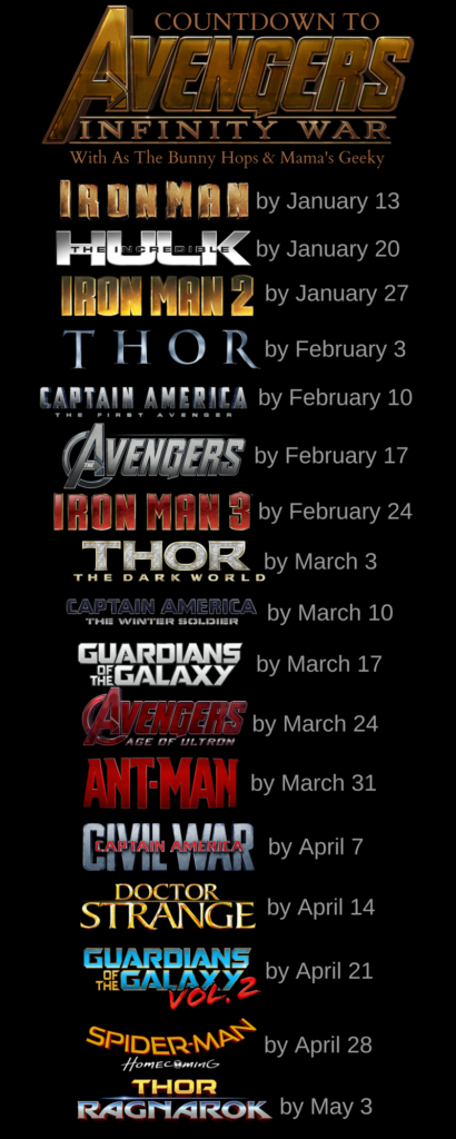 Countdown to IW Calendar