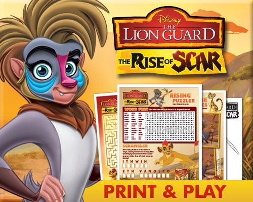 the lion guard rise of scar activity sheets
