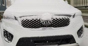 Kia Sorento Snow Covered