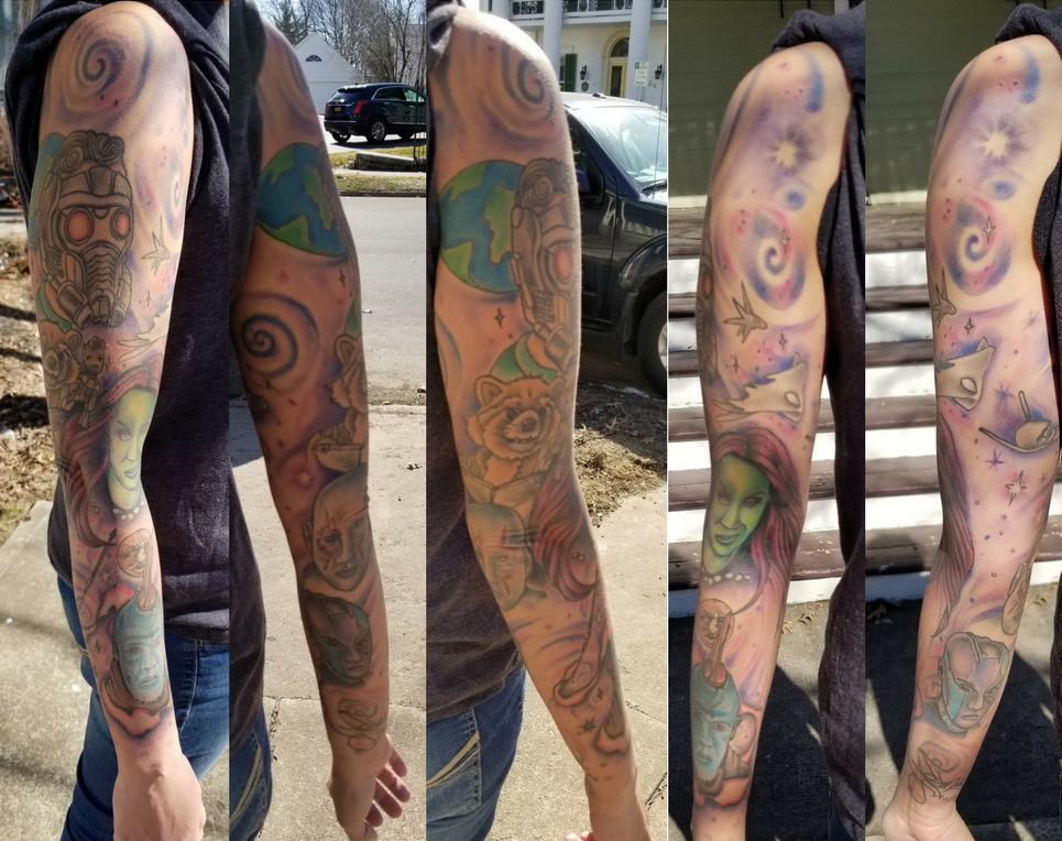 Guardians of the Galaxy Vol 2 Sleeve Tattoo