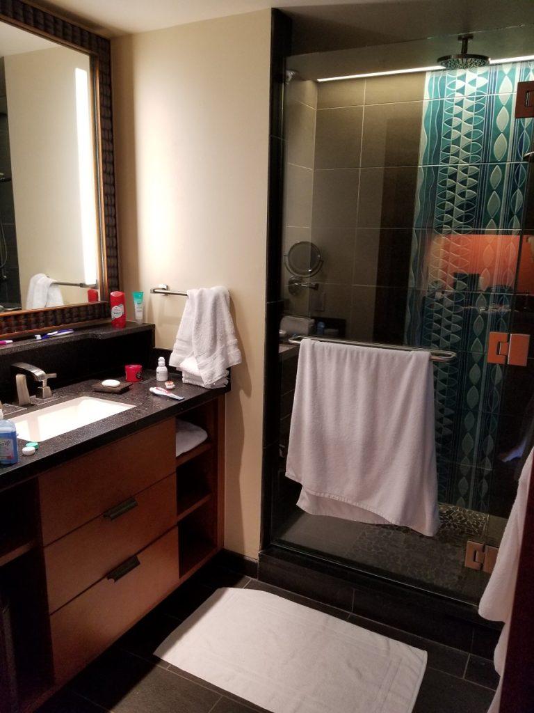 Polynesian Shower Bathroom
