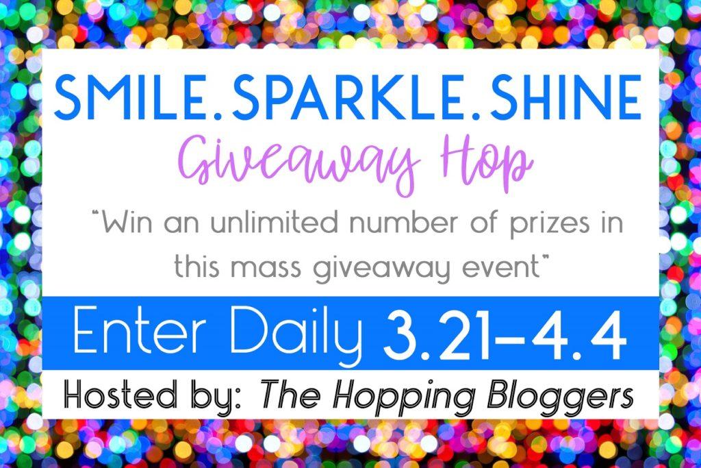 smile sparkle shine giveaway hop