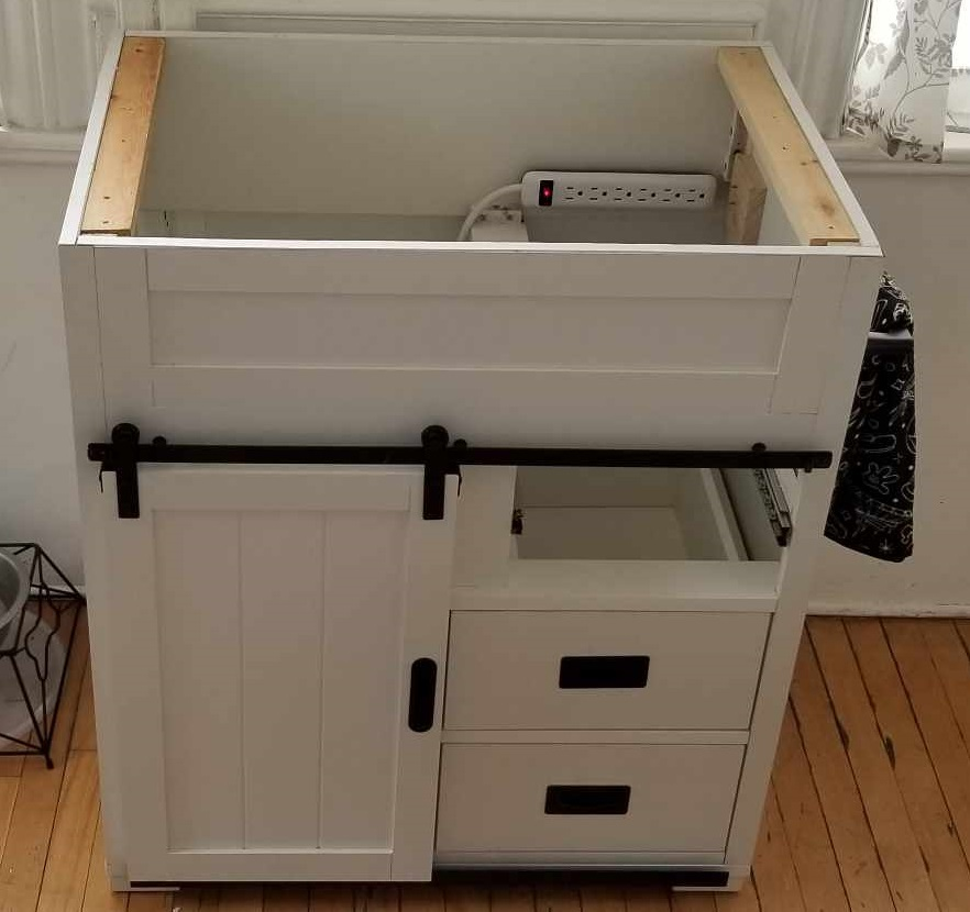 coffee bar vanity without top