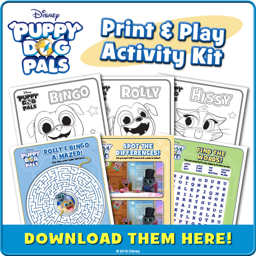 puppy dog pals activity sheets