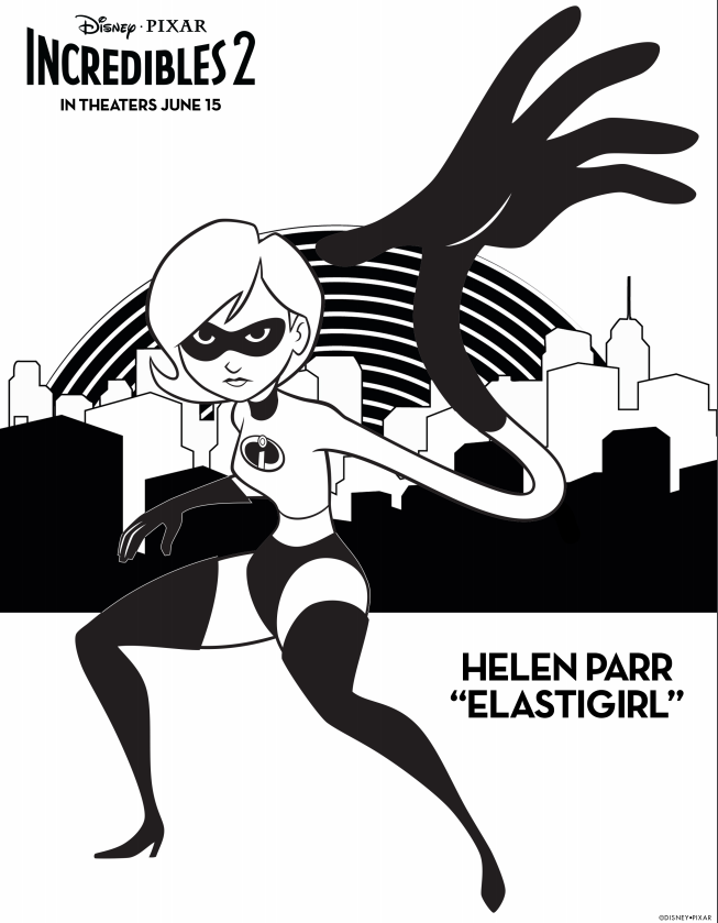 Incredibles 2 Elastigirl Coloring Page