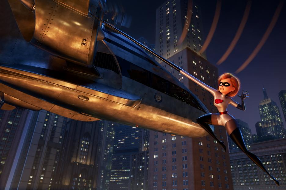 Incredibles 2 Helen Parr Elastigirl Fighting Crime