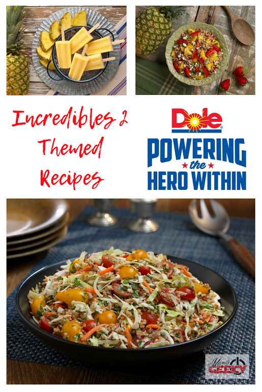 Incredibles 2 Themed Recipes