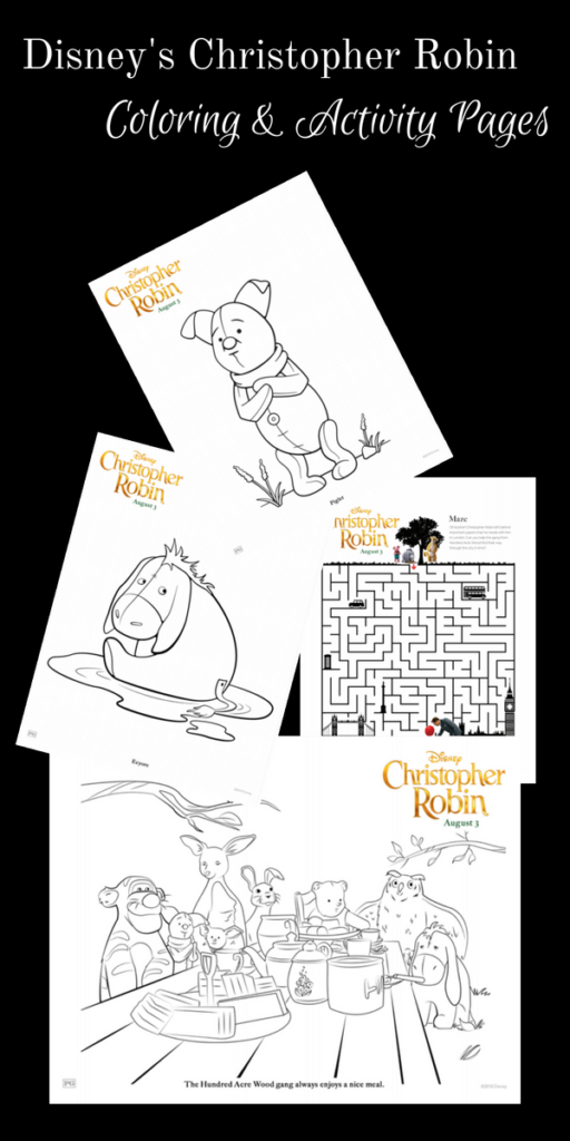 Grab Your Free Printable Disney S Christopher Robin Coloring Pages