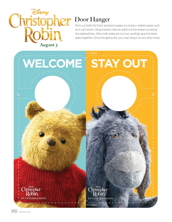Christopher Robin Door Hanger