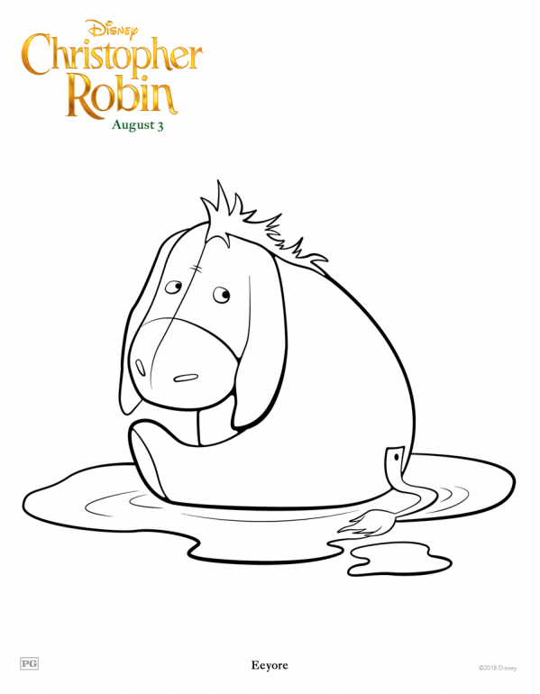 Christopher Robin Eeyore Coloring Page