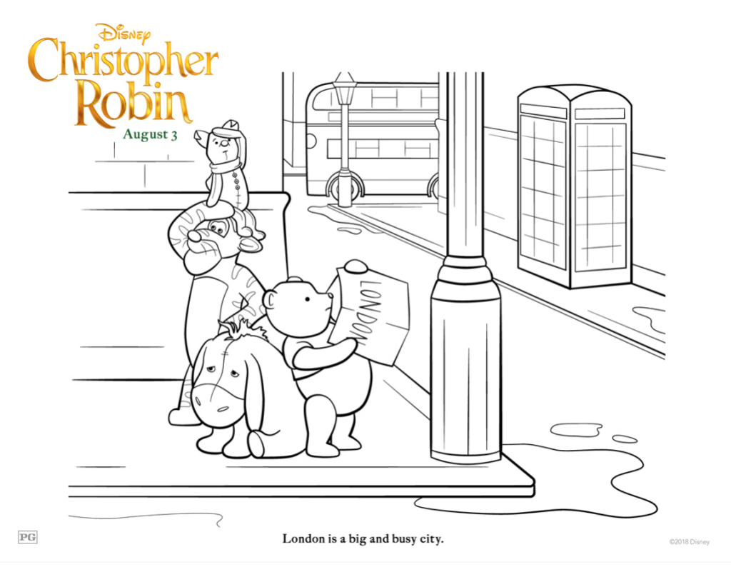 Christopher Robin In London Coloring Page