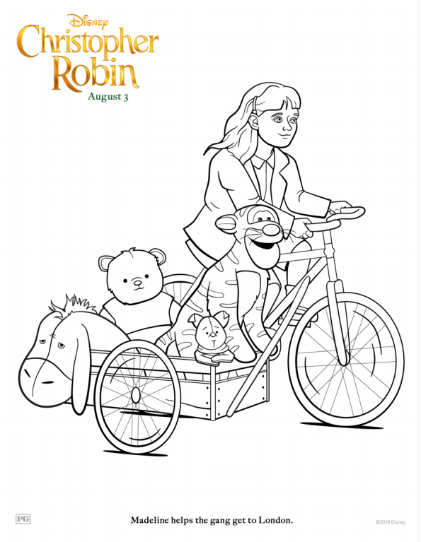 Christopher Robin Madeline Coloring Page