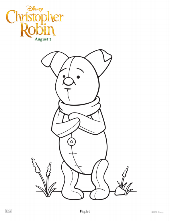 Christopher Robin Piglet Coloring Page