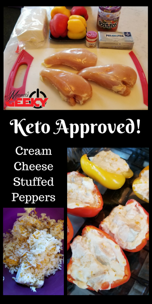 Keto Approved Cream Cheese Stuffed Peppers