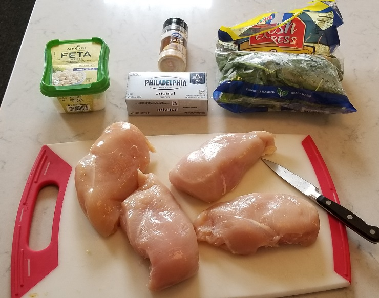 Keto Approved Spinach Stuffed Chicken Breasts Ingredients