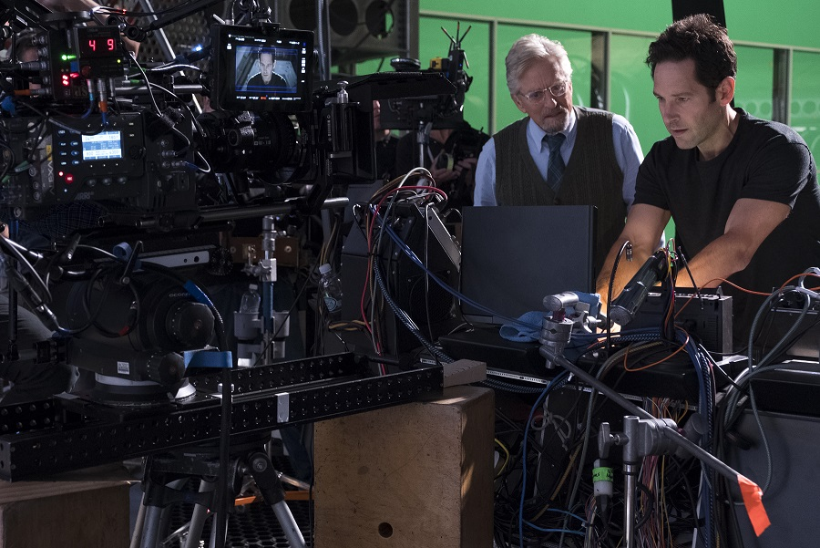 Michael Douglas and Paul Rudd Behind the Scenes Ant-Man and The Wasp