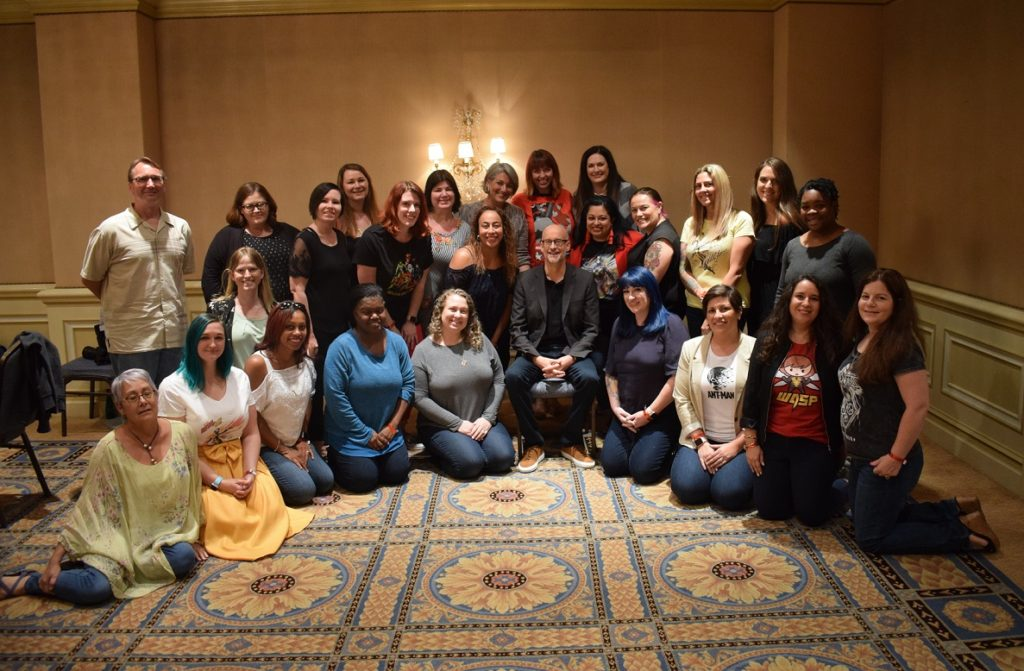 Peyton Reed Bloggers Group Photo