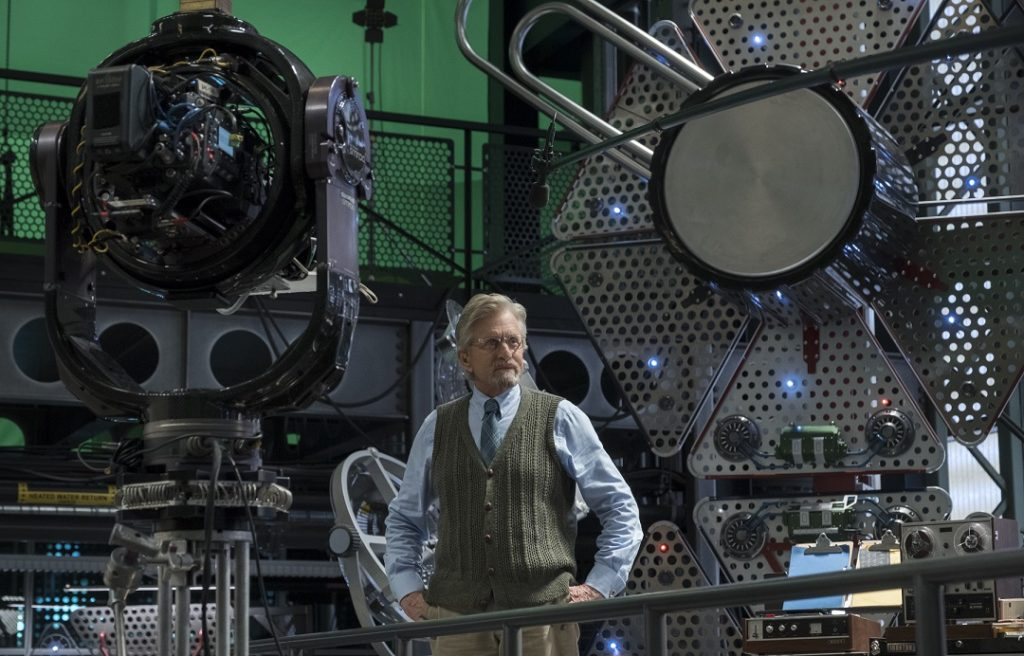 Ant-Man and The Wasp Michael Douglas on Set