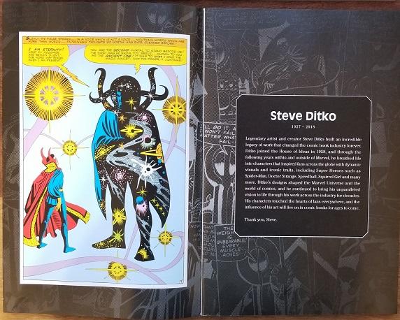 Fantastic Four Comic Book Inside Steve Ditko Tribute