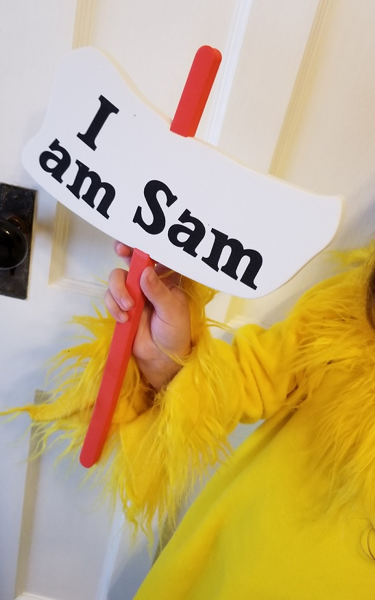Dr. Suess Sam I Am Halloween Costume Sign