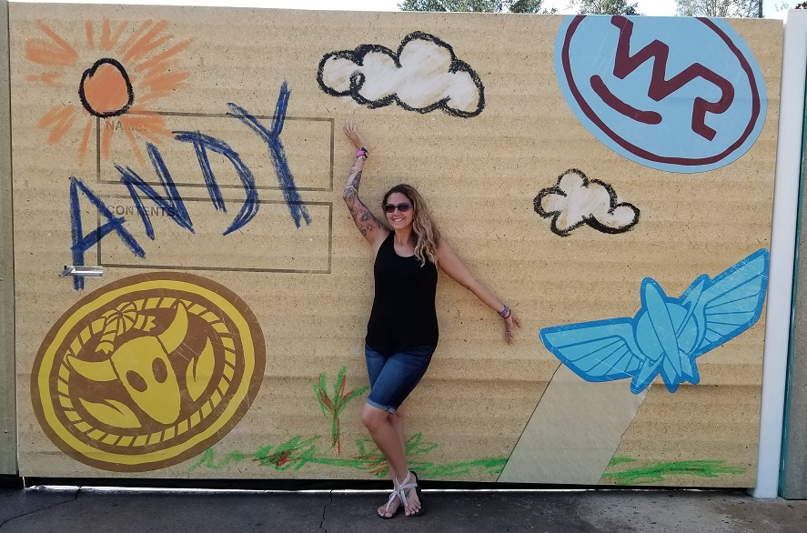 Toy Story Land Andys Wall
