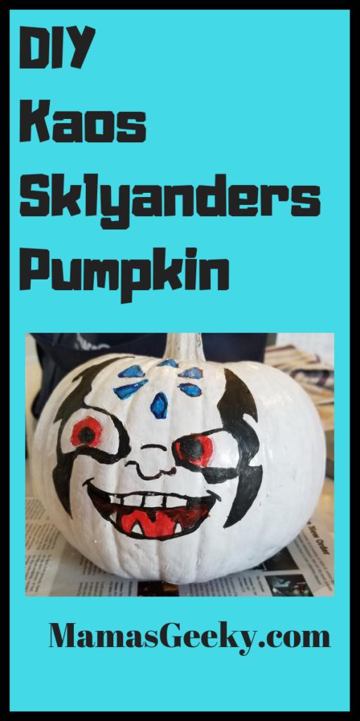 DIY Kaos Skylanders Pumpkin