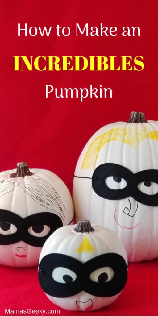 How to Make an Incredibles 2 Pumpkin