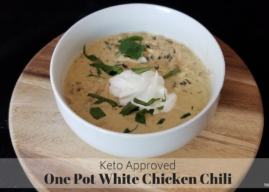 One Pot Keto White Chicken Chili Recipe (Perfect for the Cold Weather!)
