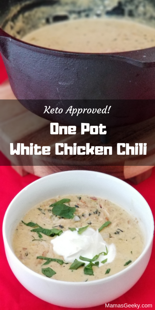 keto approved one pot white chicken chili