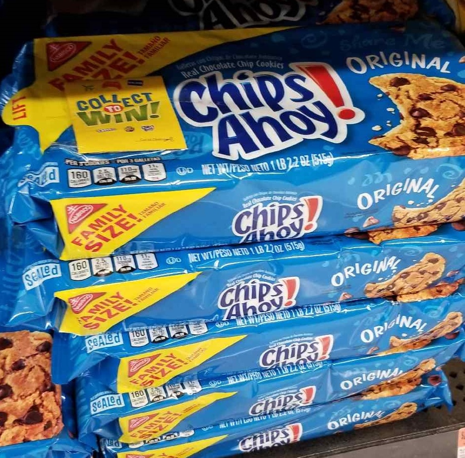 Walmart Collect to Win chips ahoy