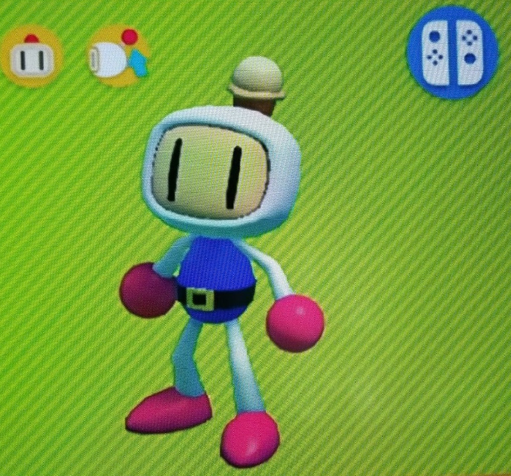 bomberman with ice cream cone hat