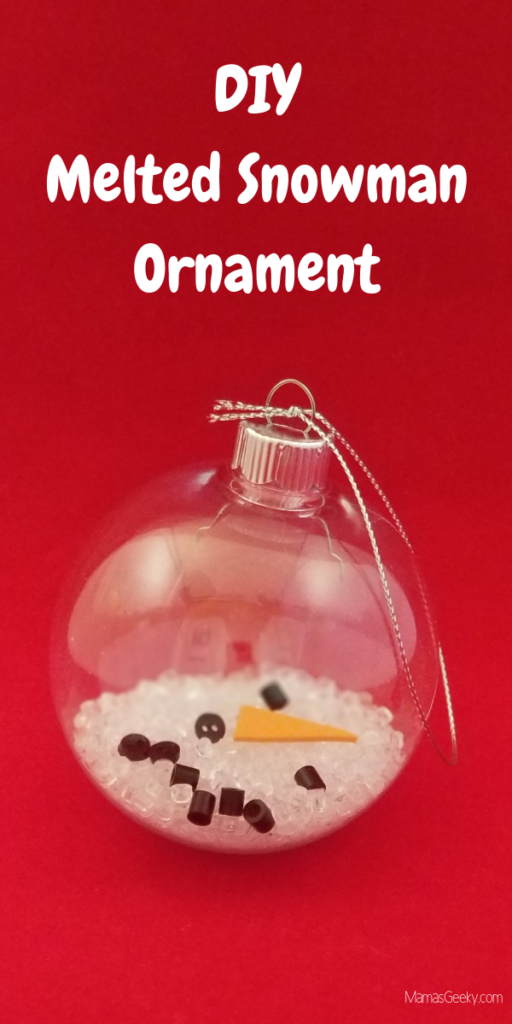 DIY Melted Snowman Ornament