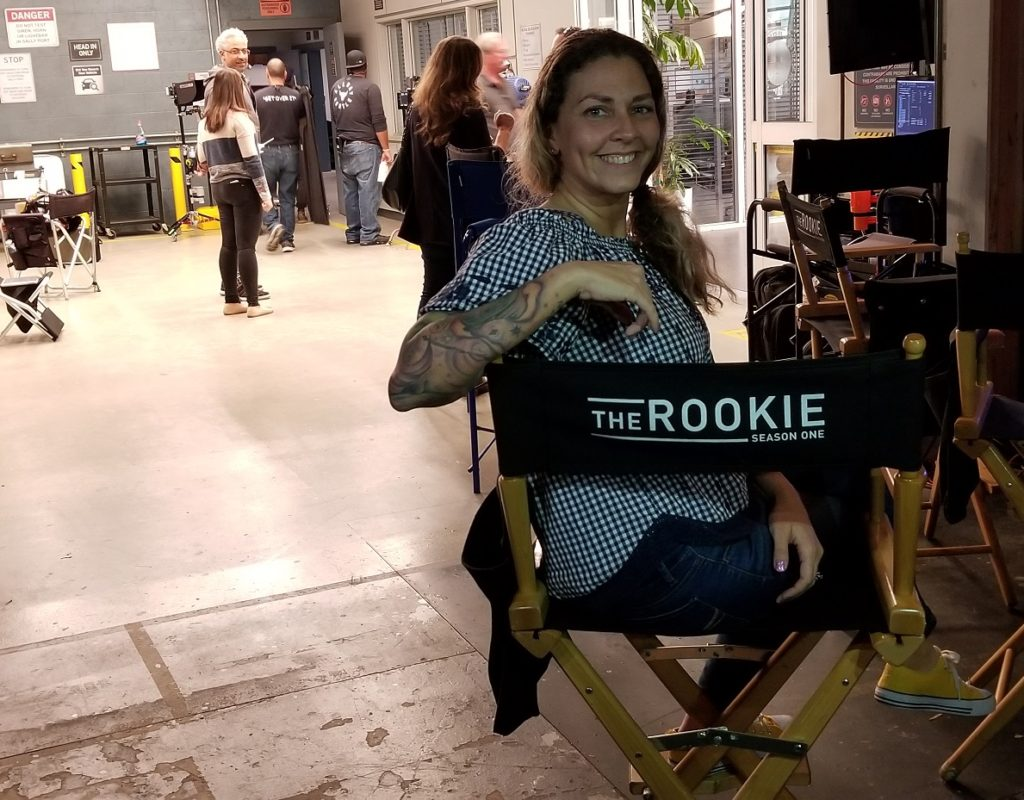 Mama's Geeky On the set of The Rookie