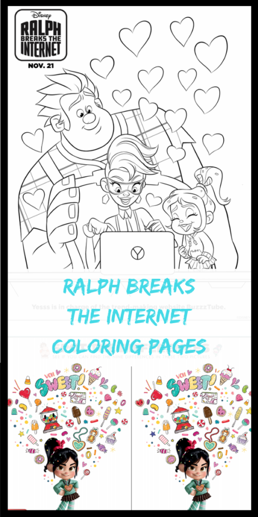Ralph Breaks The InternetColoring Pages