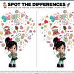 Free Ralph Breaks The Internet Printable Coloring Pages & Activity Sheets