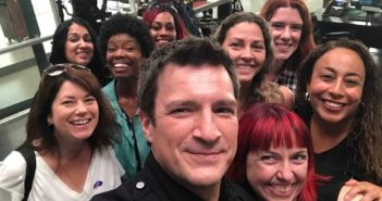 Selfie with Nathan Fillion on The Rookie set