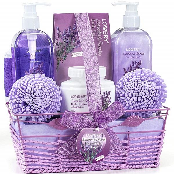 lavendar bath set