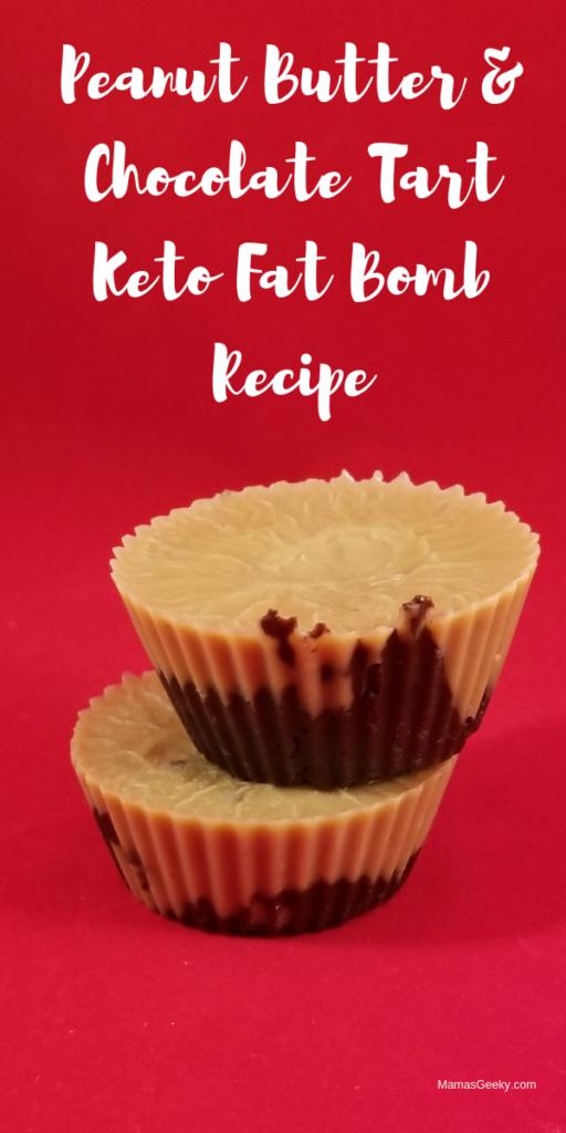 Peanut Butter & Chocolate Tart Keto Fat Bomb Recipe