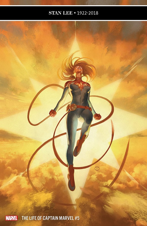 the life of captain marvel 5 cover