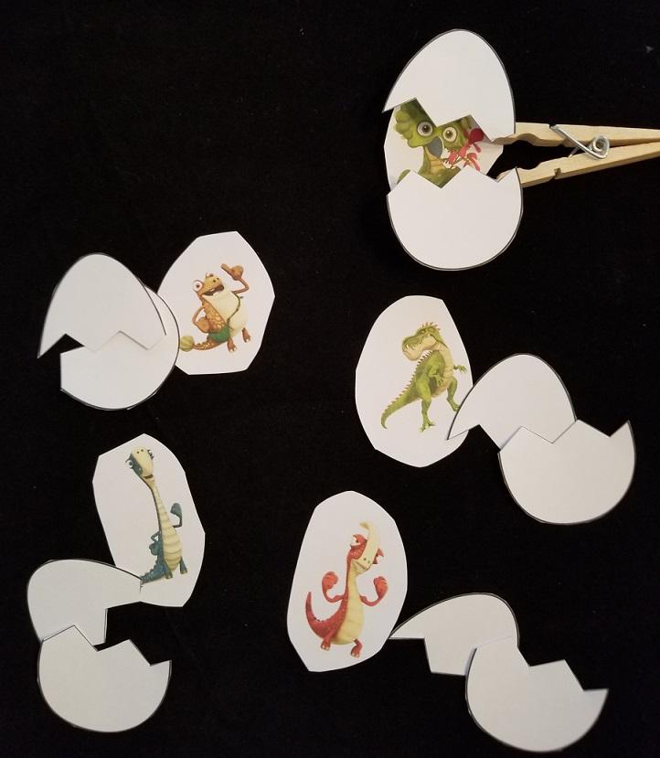 gigantosaurus clothespin puppets
