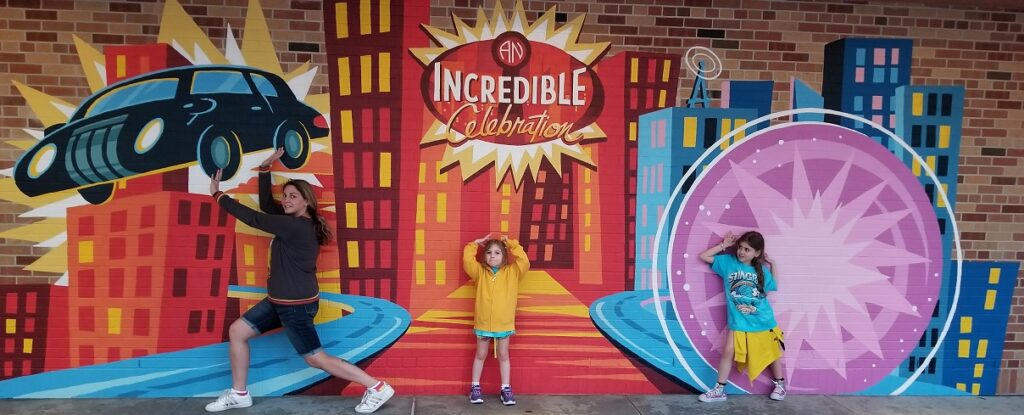 Incredibles Instagram Wall WDW