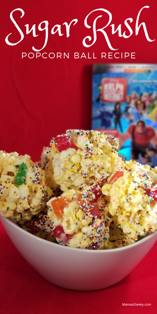 Sugar Rush popcorn ball recipe